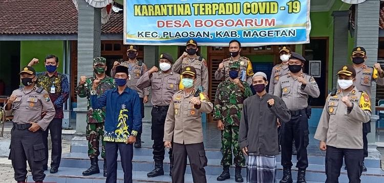 Karo SDM Polda Jatim Kunjungi Kampung Tangguh Semeru di Desa Bogoarum Magetan