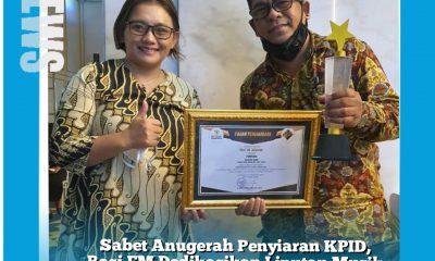 Sabet Anugrah KPID, Rasi FM Dedikasikan Liputan Musik Tongling Untuk Pak Sujono