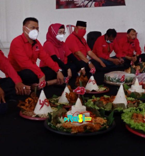 Rapat Virtual dan Selamatan, DPC PDIP Magetan Tunjukkan Semangat Kebersamaan di HUT ke 48 PDIP.