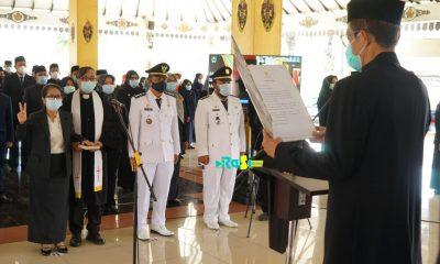 Bupati Magetan Lantik 8 Pejabat Pimpinan Tinggi Pratama dan 121 Administrasi, Pengawas dan Kepala Sekolah.