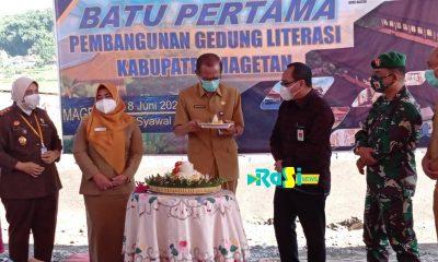 Pembangunan Gedung Graha Literasi Dimulai, Pemkab Berharap mampu Memicu Peningkatan Literasi dan SDM Menulis di Magetan.