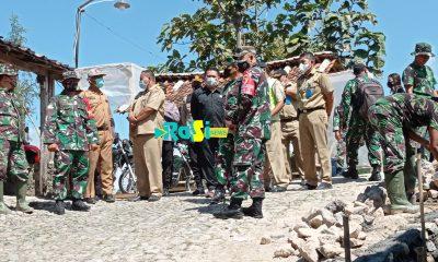 Pelaksanaan TMMD Ke 111 di Desa Gonggang Terapkan Protokol Kesehatan