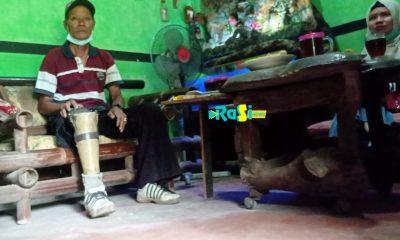 Cerita Mbah Gunadi Yang Sepi Pelanggan Sol Sepatu Anak Sekolah di Masa Pandemi, Berharap Ada Yang Bantu Belikan Kaki Palsu.