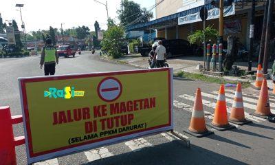 Perketat PPKM Darurat, Ini Titik Penutupan Jalan Menuju Kota di Magetan.
